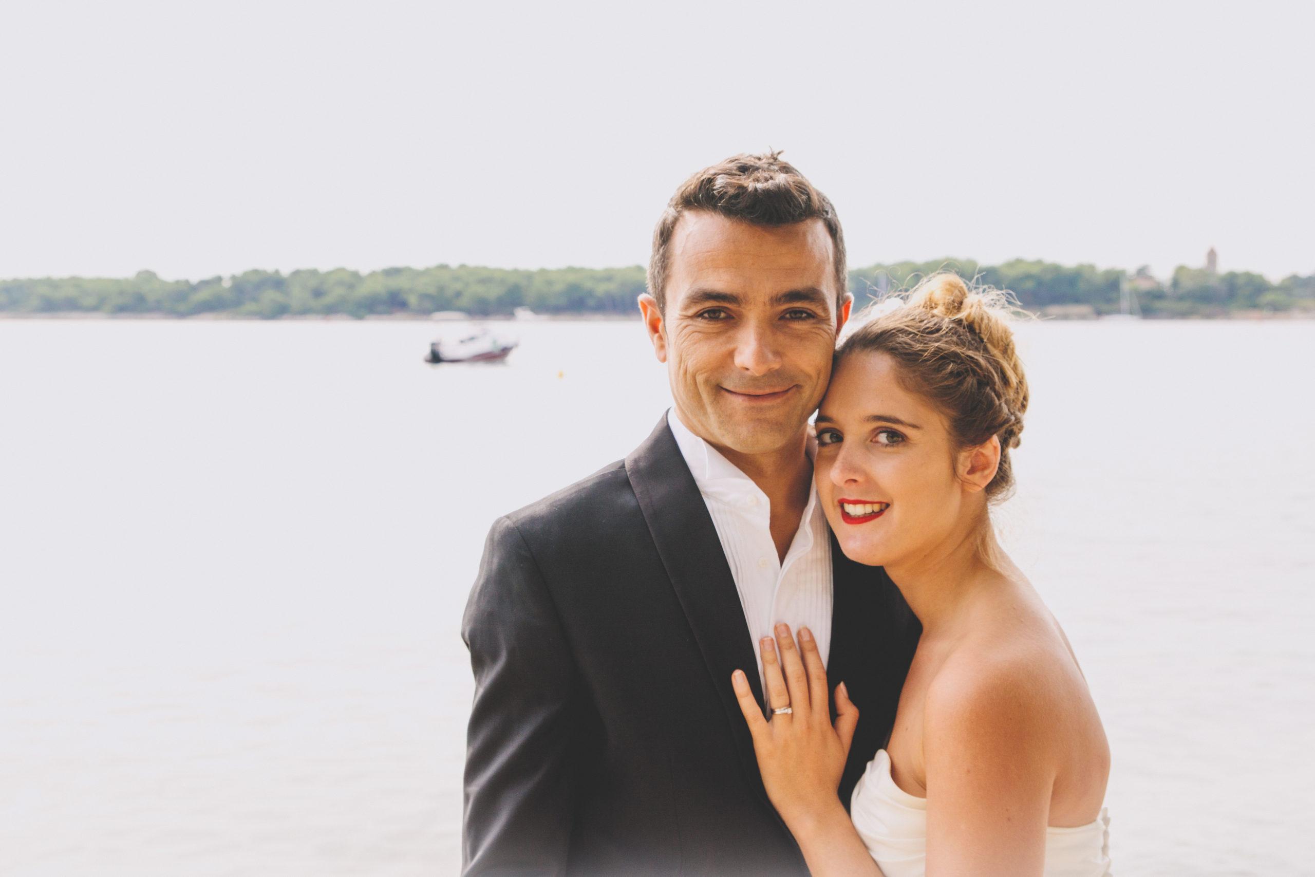 portrait mariés mer
