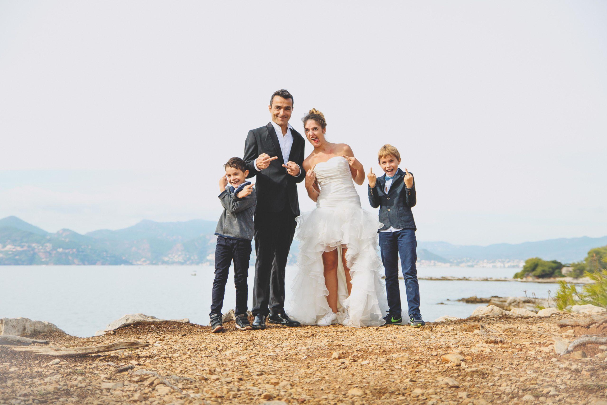 portrait mariés famille enfants