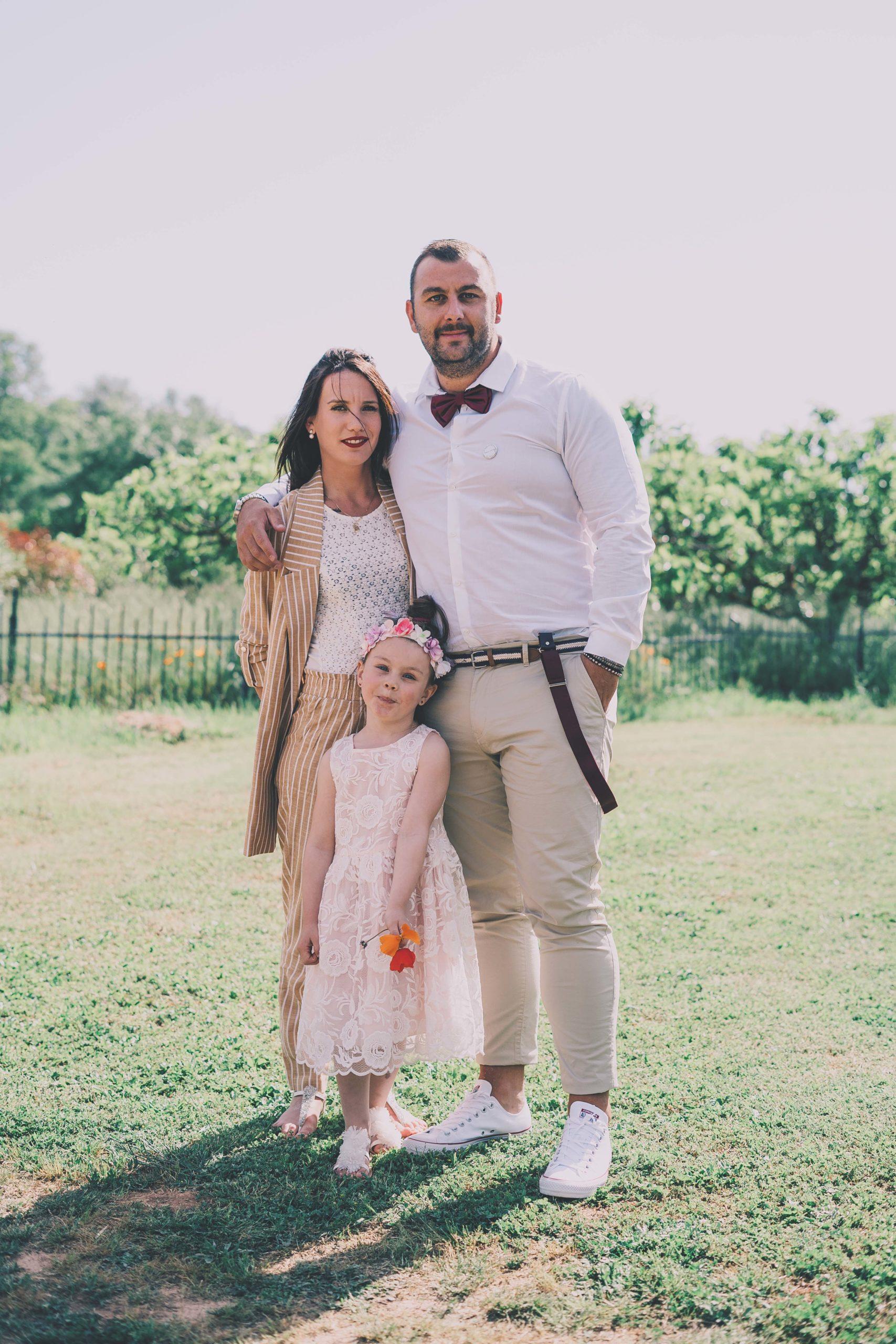 portrait mariés enfant
