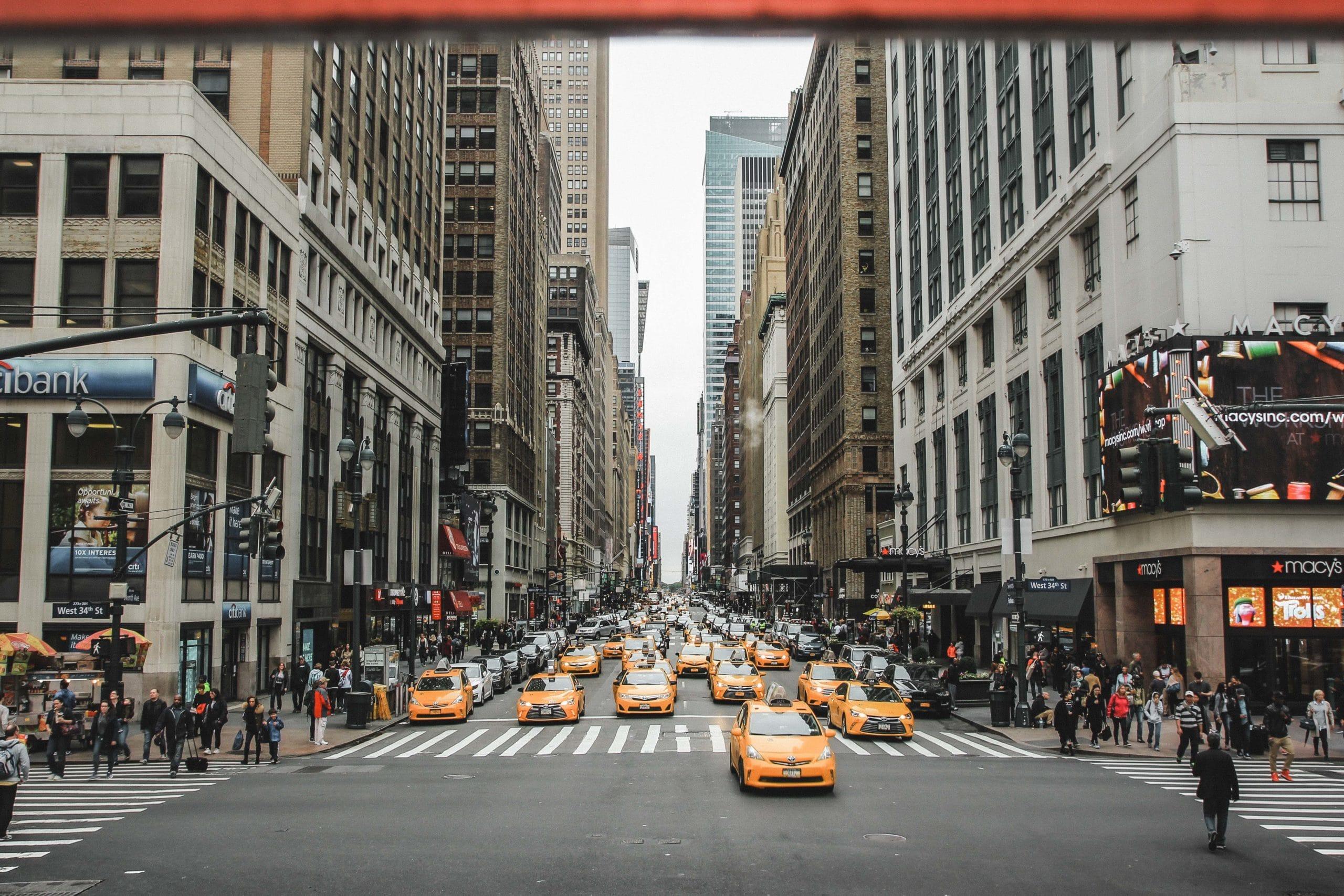 nyc street taxi